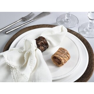 Woven Sea Grass Design Napkin Ring - set of 4 pcs (2 options available)