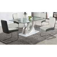 Somette Sophie Glass Top 5-Piece Dining Set
