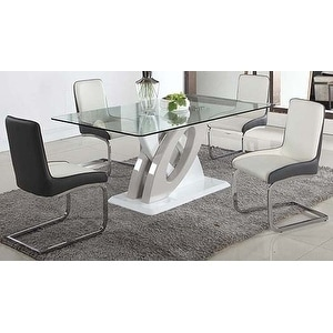 Somette Sophie Glass Top 5 Piece Dining Set