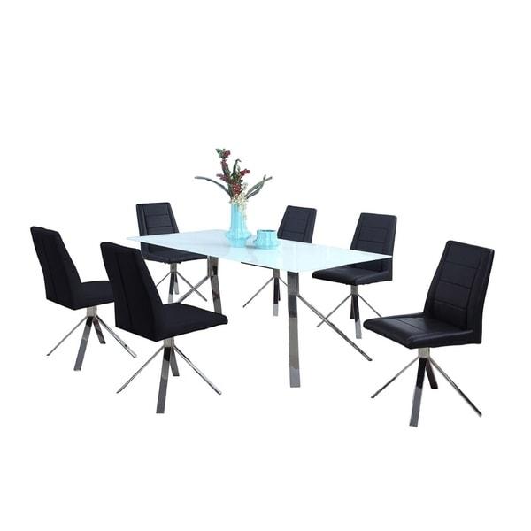Somette Trinity Starphire Glass 5-piece Dining Set