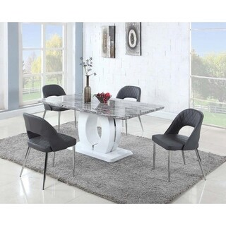 Somette Serenity Marble 5-Piece Dining Set