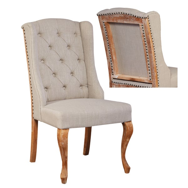 Beige/Brown Wood Deconstructed Dining Chair (Set Of 2)