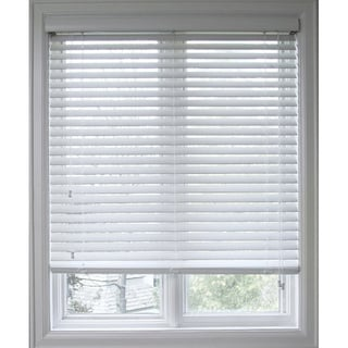 Arlo Blinds Customized Faux Wood 35.5-inch Window Blinds in White(As Is Item)