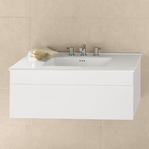 Ronbow Rebecca 36 Bathroom Vanity Set With Ceramic Sinktop Glossy White Overstock 18058755