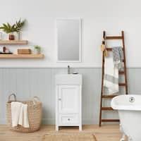 "Ronbow Juliet 18"" Bathroom Vanity Set with Ceramic Sinktop, White"