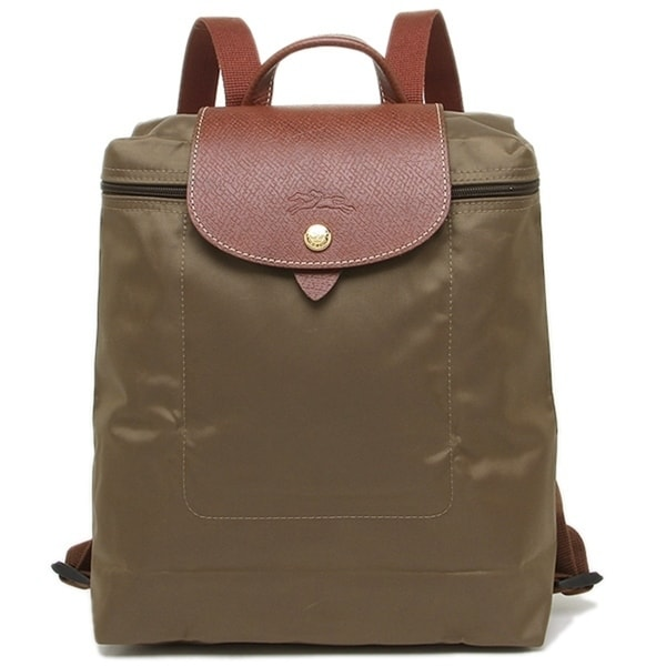33d3ce4a64 Shop Longchamp Backpack-Khaki - Free Shipping Today - Overstock ...