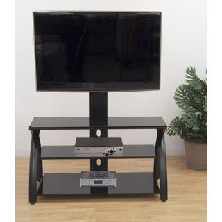 Offex Futura Tower Glass TV Stand