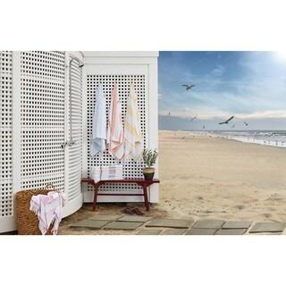 Terry 38 x 68 Traditional Turkish Cotton Peshtemal Beach Towel (Option: Beige)