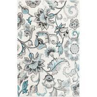 "Home Dynamix Boho Distressed Floral Ivory-Blue Area Rug (7'9"" x 10'2"")"