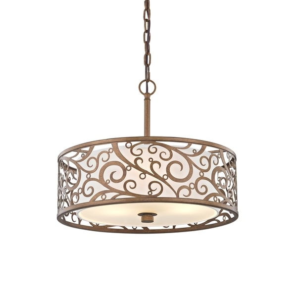 Fifth and Main Carousel 3 light 18-inch Pendant