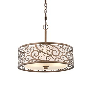 Fifth and Main Carousel 3 light 18-inch Pendant - Gold