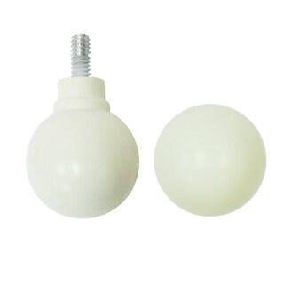 """72"""" White Curtain Rod w Ball Finials"""