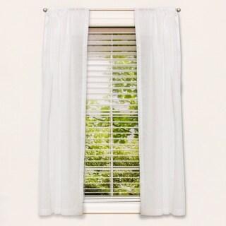 """63"""" Sheer Window Panel White"""