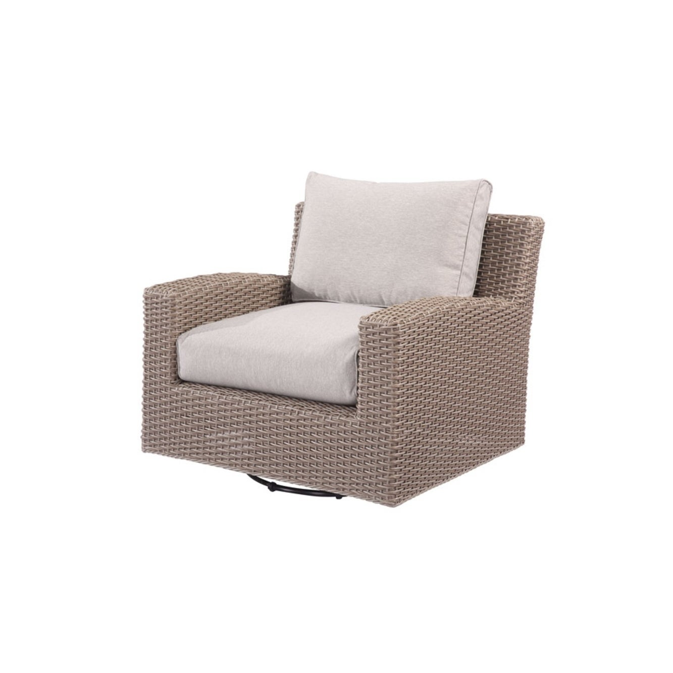 Emerald Reims Spuncrylic Brick Grey Outdoor Swivel Glider...