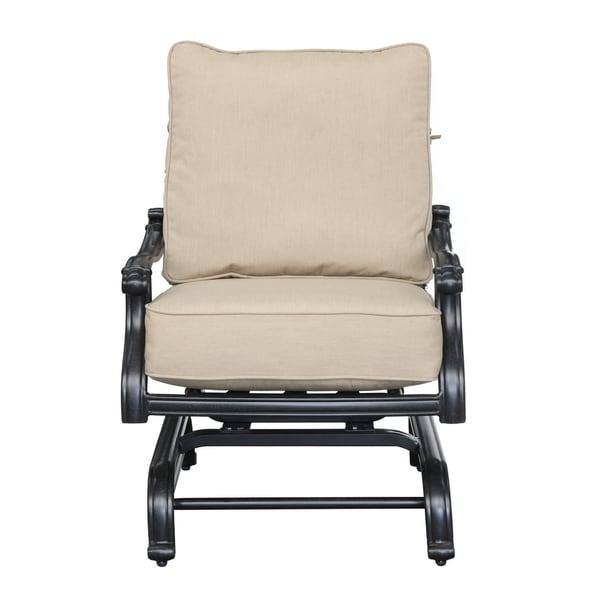 Versailles Heather Beige Outdoor Sunbrella Spring Lounge Chair