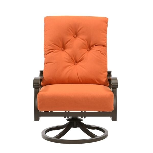 Chatham II Orange Outdoor Sunbrella Swivel Rocker Lounge Chair (Set of 2)