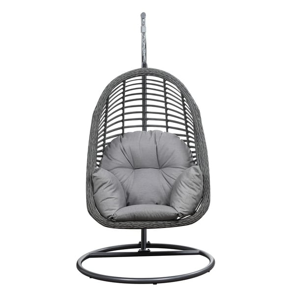 Emerald Home San Marino Spuncrylic Sketch Grey Outdoor Hanging Basket Chair  sc 1 st  Overstock.com & Shop Emerald Home San Marino Spuncrylic Sketch Grey Outdoor Hanging ...