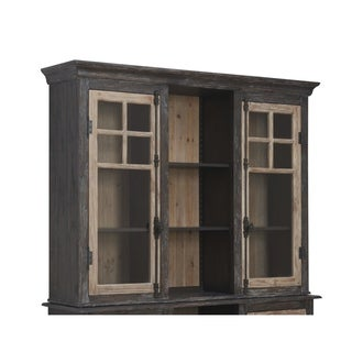 Emerald Home Barcelon Brown Hutch with Light