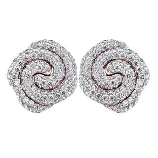 14k Rose Gold 1.2 Carat Swirl Petal Stud Earrings|https://ak1.ostkcdn.com/images/products/18059601/P24222939.jpg?impolicy=medium