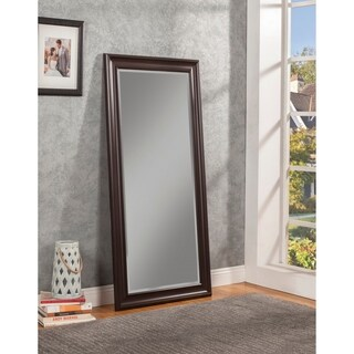 Sandberg Furniture Espresso Full Length Leaner Mirror