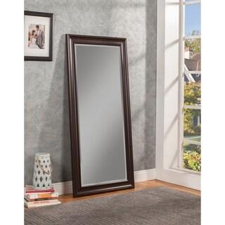 Sandberg Furniture Espresso Full Length Leaner Mirror - A/N