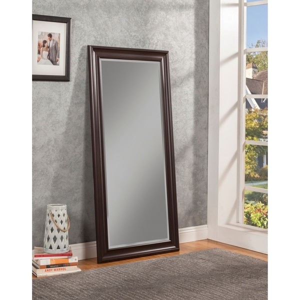Sandberg Furniture Espresso Full Length Leaner Mirror