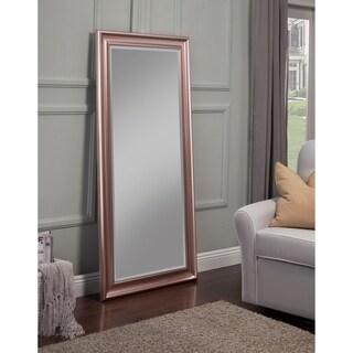 Sandberg Furniture Rose Gold Full Length Leaner Mirror   Pink