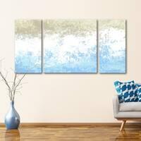 3 PC Walk Along the Shore 30 x 60 Triptych Wall Art by Norman Wyatt Home