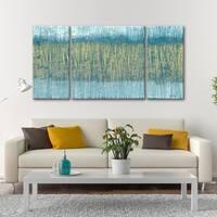 3 PC Glacier Gold 30 x 60 Triptych Wall Art by Norman Wyatt Home