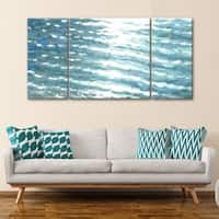 3 PC Sunlit Waves 30 x 60 Triptych Wall Art by Norman Wyatt Home