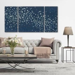 Norman Wyatt Home 3 PC Midnight Light Show 30 x 60 Triptych Wall Art