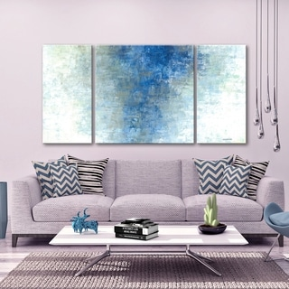 3 PC Winter Rain 30 x 60 Triptych Wall Art by Norman Wyatt Home
