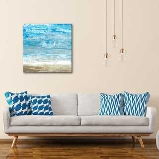 Crashing Waves Gallery Wrapped Canvas Wall Art by Norman Wyatt Home