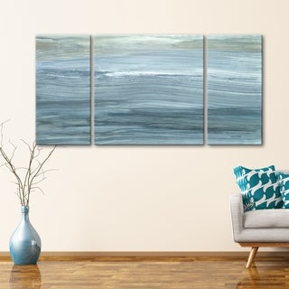 3 PC Solemn Shoreline 30 x 60 Triptych Wall Art by Norman Wyatt Home