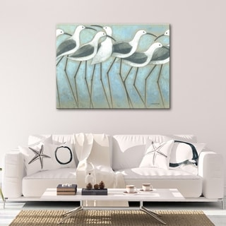 Coastal Parade 30 x 40 Gallery Wrapped Canvas Wall Art by Norman Wyatt Home