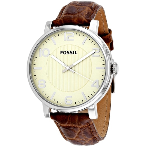 product brown s men jewelry watch overstock shipping mens authentic today leather free watches fossil