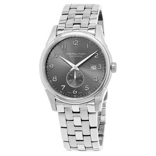 Hamilton Men's H38411183 'Jazzmaster' Grey Dial Stainless Steel Swiss Quartz Watch