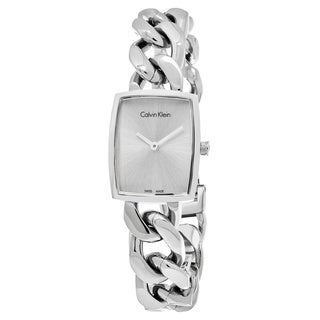 Calvin Klein Women's K5D2L126 'Amaze' Silver Dial Stainless Steel Swiss Quartz Watch