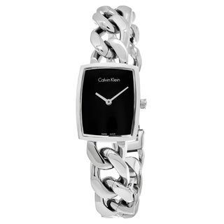 Calvin Klein Women's K5D2L121 'Amaze' Black Dial Stainless Steel Swiss Quartz Watch