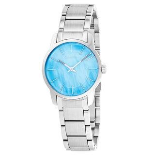 Calvin Klein Women's K2G2314X 'City' Blue Mother of Pearl Dial Stainless Steel Swiss Quartz Watch