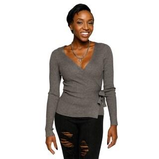 Xehar Womens Sexy Wrap Ribbon Cardigan Knit Sweater