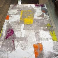 Porch & Den Hampden Cox Ivory/ Multicolor Area Rug - 7'10 x 10'2