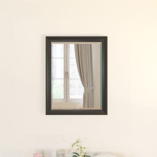 Porch & Den Alamo Heights Wildrose Black-framed Beveled Wall Mirror