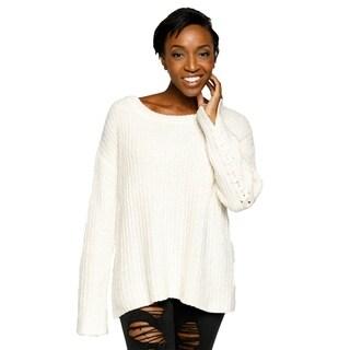 Xehar Womens Stylish Crisscross Long Sleeve Knit Chic Sweater