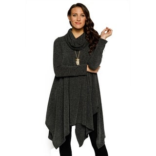 Xehar Womens Casual Stylish Peppered Cowl Neck Long Body Sweater