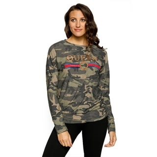 Xehar Womens Camouflage Embroidered Queen Long Sleeve Top