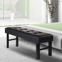 Sleeplanner 18-inch Full-Size Memory Foam Padded Bench