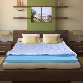 Sleeplanner 3-inch King-Size I-Gel Memory Foam Mattress Topper