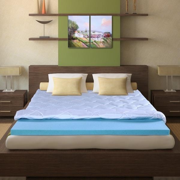 shop sleeplanner 3 inch king size i gel memory foam mattress topper on sale free shipping. Black Bedroom Furniture Sets. Home Design Ideas