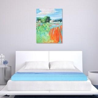 Sleeplanner 2-inch King-Size Cool I-Gel Ventilated Memory Foam Mattress Topper